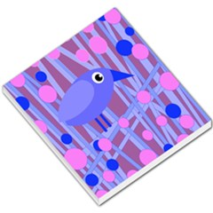 Purple and blue bird Small Memo Pads