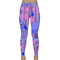 Purple and blue bird Yoga Leggings