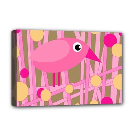 Pink bird Deluxe Canvas 18  x 12