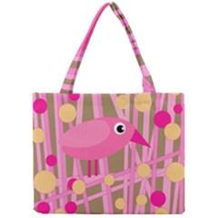 Pink bird Mini Tote Bag