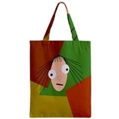 Crazy girl Zipper Classic Tote Bag