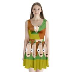 Crazy girl Split Back Mini Dress