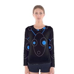 Blue alien Women s Long Sleeve Tee
