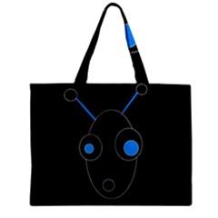 Blue alien Zipper Mini Tote Bag