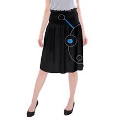 Blue alien Midi Beach Skirt