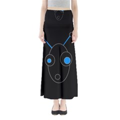 Blue alien Maxi Skirts