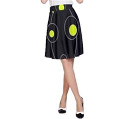 Yellow alien A-Line Skirt