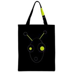 Yellow alien Zipper Classic Tote Bag