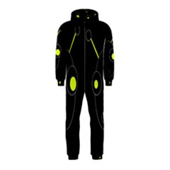 Yellow alien Hooded Jumpsuit (Kids)