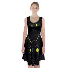 Yellow Alien Racerback Midi Dress