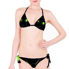 Green alien Bikini Set