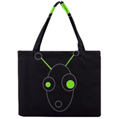 Green alien Mini Tote Bag