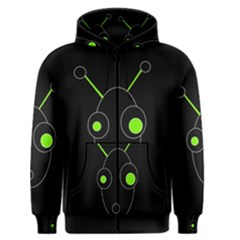 Green alien Men s Zipper Hoodie