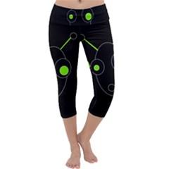 Green alien Capri Yoga Leggings