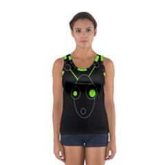 Green Alien Women s Sport Tank Top