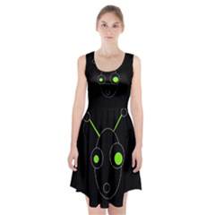 Green alien Racerback Midi Dress