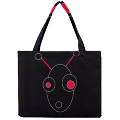 Red alien Mini Tote Bag