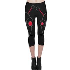 Red alien Capri Leggings