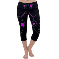 Purple alien Capri Yoga Leggings