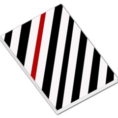 Red, black and white lines Large Memo Pads