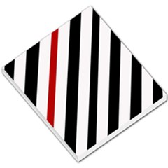 Red, black and white lines Small Memo Pads