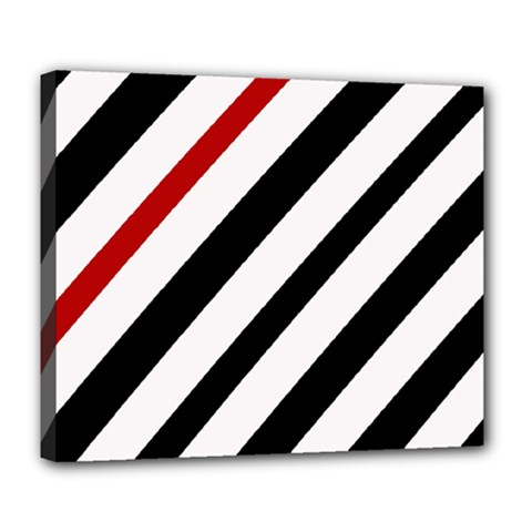 Red, black and white lines Deluxe Canvas 24  x 20