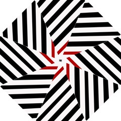 Red, black and white lines Hook Handle Umbrellas (Small)