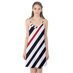 Red, black and white lines Camis Nightgown