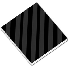Gray and black lines Small Memo Pads