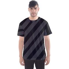 Gray and black lines Men s Sport Mesh Tee