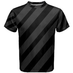 Gray and black lines Men s Cotton Tee