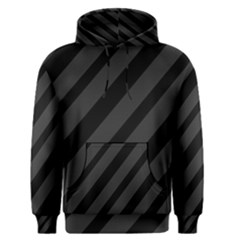 Gray and black lines Men s Pullover Hoodie