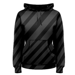 Gray and black lines Women s Pullover Hoodie