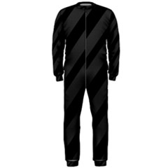 Gray and black lines OnePiece Jumpsuit (Men)