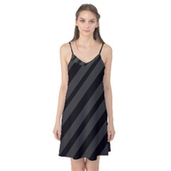 Gray and black lines Camis Nightgown