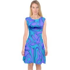 Purpleslush Capsleeve Midi Dress