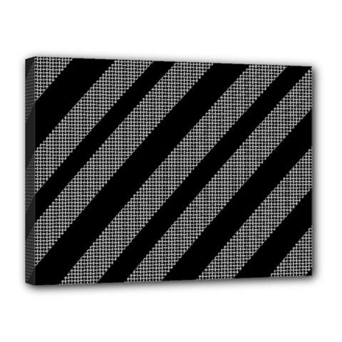 Black and gray lines Canvas 16  x 12