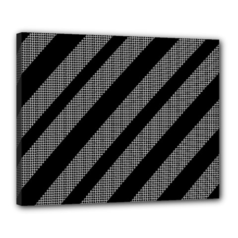 Black and gray lines Canvas 20  x 16