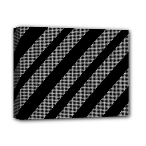Black and gray lines Deluxe Canvas 14  x 11