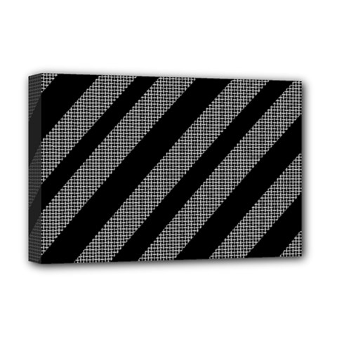 Black and gray lines Deluxe Canvas 18  x 12