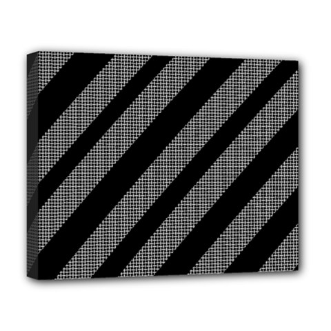 Black and gray lines Deluxe Canvas 20  x 16