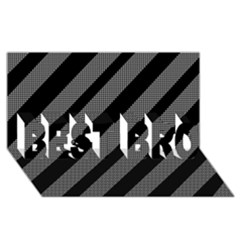 Black and gray lines BEST BRO 3D Greeting Card (8x4)