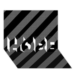 Black and gray lines HOPE 3D Greeting Card (7x5)