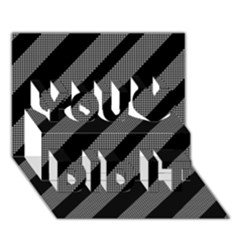 Black and gray lines You Did It 3D Greeting Card (7x5)
