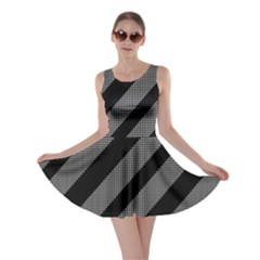 Black and gray lines Skater Dress