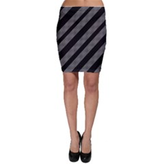 Black and gray lines Bodycon Skirt