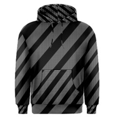 Black and gray lines Men s Pullover Hoodie