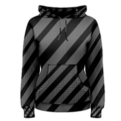 Black and gray lines Women s Pullover Hoodie
