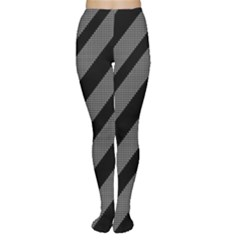 Black and gray lines Women s Tights