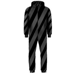 Black and gray lines Hooded Jumpsuit (Men)